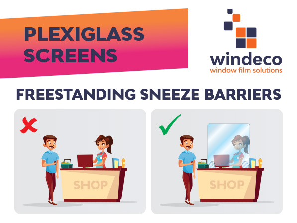 plexiglass screens freestanding sneeze barriers
