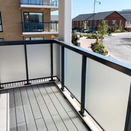 windeco frosted privacy film balcony